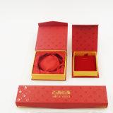 Fait dans la caisse d'emballage personnalisée par Chine de bijou de logo (J08-E2)
