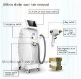 Kwaliteit Warrantied 808nm de Verticale Machine van het Gebruik van het Ziekenhuis van de Verwijdering van het Haar van de Laser van de Diode Niet-invasieve