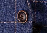 Ternos magros da forma dos vestidos dos homens da verificação do ajuste de 3 partes
