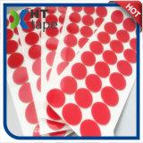 Espuma blanca del PE de la película roja redonda del animal doméstico con la cinta adhesiva de acrílico