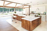 Gabinetes de cozinha luxuosos modernos DIY da madeira contínua de Prima
