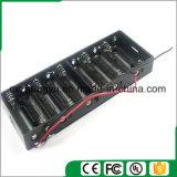 sostenedor de batería 10AA con los terminales de componente de alambre rojos/negros