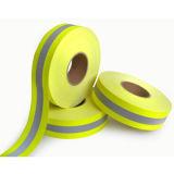 Cinta reflexiva amonestadora ignífuga permanente, amarillo de Fluo, con cuatro certificados, 400 micrones