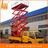LKW hing manuelles Mobile Scissor Aufzug-Plattform ein (SJC0.3-7.5)