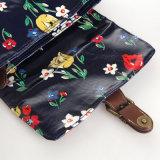 영국 Retro 꽃 방수 PVC 화포 어깨에 매는 가방 (23242)