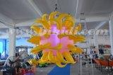膨脹可能な天井の装飾の気球、角C2024が付いている膨脹可能な照明球