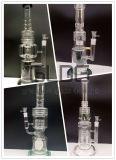 Le modèle le plus neuf de Gldg 16 pouces - pipe de fumage en verre de Perc d'arroseuse conique grande avec le traitement de deux yeux