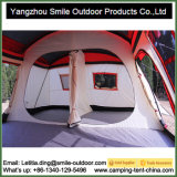 Grande tente campante à deux niveaux de luxe mobile de famille de 2 pièces