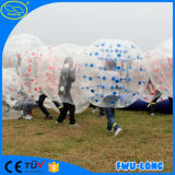 Fútbol material de la bola de la burbuja del campo del campo de fútbol de la mezcla TPU del PVC de TPU