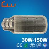 Luz al aire libre alta de la calle LED de los productos 30W-150W de la eficacia