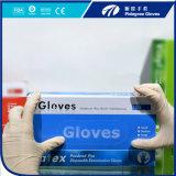 Отсутствие свободно порошка перчаток латекса перчаток аллергий устранимого сделанного в Малайзии