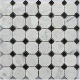 [هيغقوليتي] رخيصة سعر رخام فسيفساء, أبيض رخاميّة حجارة فسيفساء ([فسك407-1])