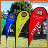 Kundenspezifische Fiberglas-Poleteardrop-Strand-Feder-Fliegen-Markierungsfahne