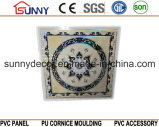 Panneau de mur imperméable à l'eau de Tuile-PVC de plafond de PVC 595mm 600mm 603mm
