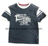 T-shirt en coton épais pour garçon avec Twill Patch