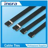 De snelle Vervaardiging van de Banden van de Kabel van het Roestvrij staal 4.6X400 van de Levering pvc Met een laag bedekte