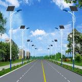 50W e luzes de rua solares de 8 medidores