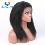 100٪ باروكة شعر الإنسان ياكي مستقيم شريط جبهة لمة