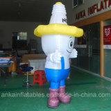 Lustige erwachsene aufblasbare Karikatur-Kostüme für draußen bekanntmachen