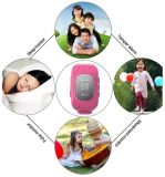 Smart Safe OLED Kids GPS Watch Sos Call Relógio de pulso Child Finder Locator Tracker Baby Anti Lost Monitor Tracker Q50 Kids Watch Pink Color