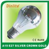 Шарик серебряной кроны высокого качества A19 раскаленный добела
