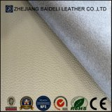 Couro sintético gravado alta qualidade do PVC Microfiber para o Upholstery de Furnitre do sofá