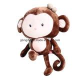 CVC Velor로 만드는 연약한 원숭이 아기 가르랑거리는 소리, 폴리에스테르섬유로 채워