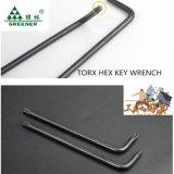 Одиночный черный длинний гаечный ключ Hex ключа рукоятки