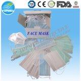 A máscara protetora de papel descartável com o Earloops no Ce aprovou de Topmed