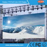 Alta pantalla de alquiler a todo color al aire libre impermeable IP65 P10 LED TV