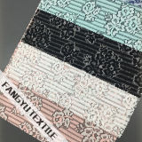 Tela de nylon colorida do laço do algodão do teste padrão de flor