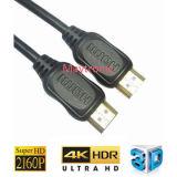 高速HDMIケーブルへの金によってめっきされる2160p 2.0 HDMI