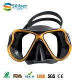 Máscara Preto-Dourada livre do silicone do baixo volume do mergulho de Spearfishing do mergulho autónomo bem escolhido do mergulhador