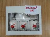 el accesorio de cerámica del cuarto de baño 4PCS fijó con el embalaje del rectángulo de regalo