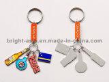 La aleación redonda del cinc a presión la fundición Keychain (BYH-10651)