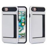 Tampa da caixa da carteira do cartão de crédito de Incipi Kickstand para a caixa do telefone do iPhone 7plus/I8/Note8
