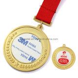 Médaille en alliage de zinc personnalisée de sport de logo d'impression d'enjeu