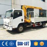 Mobile hydraulique de boum mini grue de camion de 3 tonnes à vendre