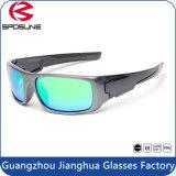 Do frame preto protetor UV dos óculos de sol do Mens vidros de Sun frescos da bicicleta da equitação