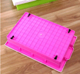 Produits en plastique de haute qualité 35L boîte de rangement transparente Underbed Boîte en plastique Boîte d'emballage avec roues