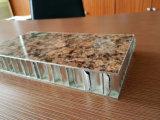PE Met een laag bedekte Bekleding van de Muur van de Comités van de Honingraat van het Aluminium van de Kleur van de Steen