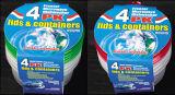 Rond en plastique à emporter Conteneur pour aliments à micro-ondes 25 oz