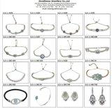 La joyería de plata al por mayor de piedra vendedora caliente del color 2017 fija S3388cr