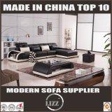 Mittlere Größe L Form-Sofa-Möbel mit Tisch-Leder