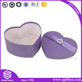 Коробка формы сердца бумажная упаковывая подарок рождества Apple