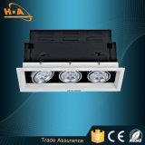 Luz blanca muda caliente de la parrilla de la pista LED de la venta 12W sola