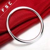 Pulsera redonda lisa caliente del diseño simple de la manera de la venta para el hombre
