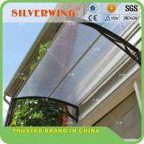 Silberne Flügel-Polycarbonat-Markisen-fester Blatt-Tür-Fenster-Kabinendachsun-HalleGazebo (60cm Körper)