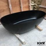Baignoire extérieure solide de noir de pierre de Bath d'articles sanitaires