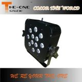DJ Club 12 * 17W sem fio DMX LED Flat PAR Light
